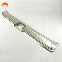 For RENAULT KADJAR 2016 Stainless Steel Rear Bumper Protector Sill Trunk Lid Tread Plate Threshold Pad