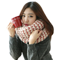 Women Men Knitted Scarves Lady Long Wool Pashmina Warm Knit Crochet Scarf Shawl Thick Winter Neck Scarves Wrappers