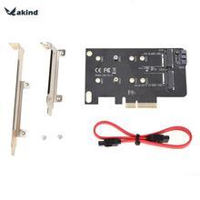 2 слота карты адаптера ключа M M.2 NGFF SSD на pci-e X4 адаптер и B Ключ M.2 NGFF SSD SATA адаптер карты + 7pin SATA