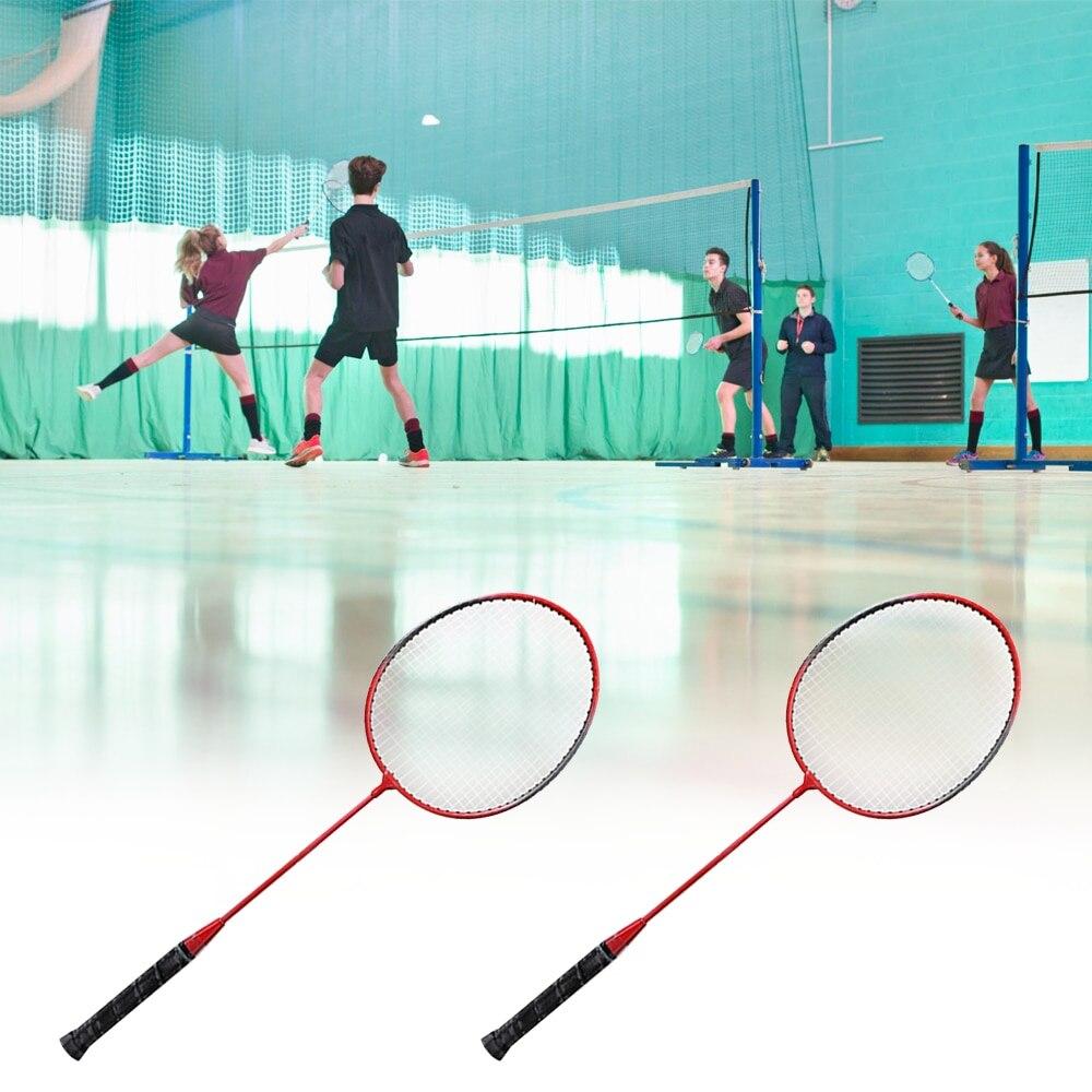 Professional Pink 2 Player Badminton Racket Set Indoor Outdoor Sports Children Practice Badminton Racquet With Cover Bag 2019