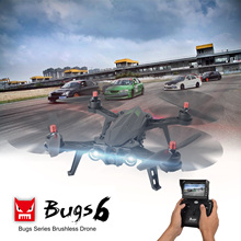 MJX Bugs 6 Racing RC Drone Brushless Motor 2.4G 4CH Dron Quadcopter RTF Flying Remote Control Helicopter with LED Light