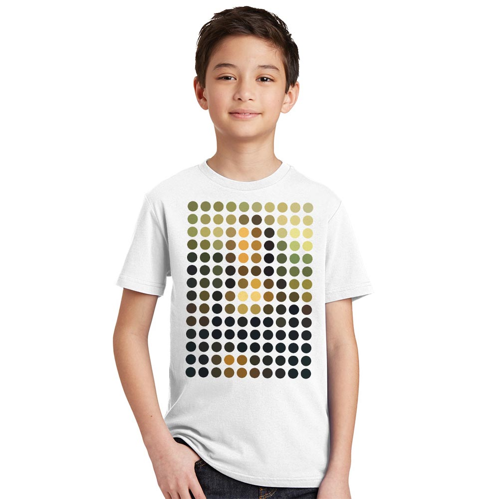 Новые поступления модные Мона Лиза Remix Дизайн детская футболка Обувь для мальчиков Hipster Прохладный Топы корректирующие Обувь для девочек По...