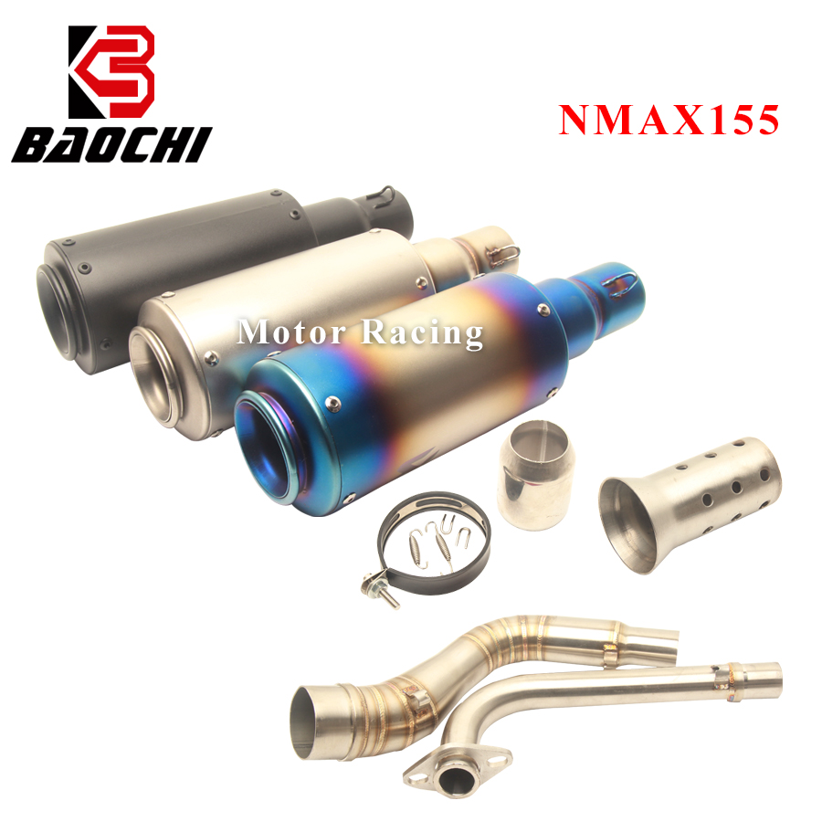 Motorcycle Exhaust System Middle Tube Escape Muffler for Yamaha Nmax 125 Exhaust NMAX 155 125 NMAX125 2015 2016 2017 Akrapovic in Exhaust Exhaust Systems from Automobiles Motorcycles