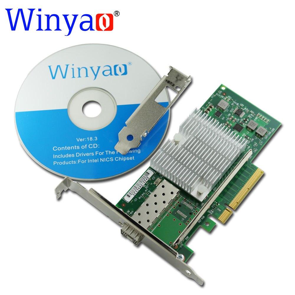 Winyao WY599F1 10Gbps SFP+ LC Fibre PCIe 8x Ethernet Server Adapter with SFP+ E10G41BTDA X520-DA1 82599 10000M Nic цены
