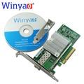 Winyao wy599f1 10 gbps adaptador de servidor ethernet sfp + lc fibra pcie 8x com sfp + intel x520-da1 e10g41btda 82599 10000 m nic