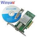 Winyao wy599f1 10 gbps dual port adaptador de servidor ethernet pcie 8x com sfp lc fibra + intel x520-da1 e10g41btda 82599