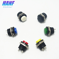 16mm 1no Colourful Momentary High Head Plastic Push Button Switch Pin 2 Terminals 1pcs