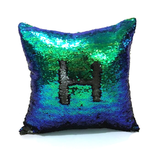 reversible mermaid sequin pillow cover cushion cover magical color changing sequin throw pillow home decor decorative
