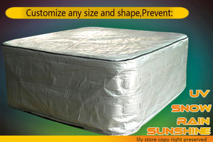 Image 1 - protect your spa cover now, 245cmx246cnx90cm, with isolation good for winter hot tub cover cap and spa cover guard