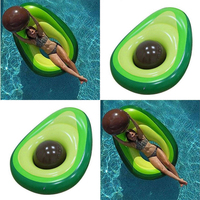 Avocado Toy Inflatable Rafts Ride ons Float New Year Giant Pool Swimming Ring Circle Boia Piscina Pool For Christmas Gift
