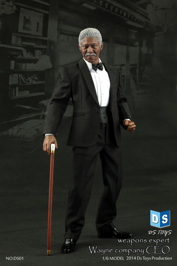 DS01 1/6 Weapons Expert Morgan Freeman Boss Wayne Company CEO Colletible 12'' Action Figure Model Toy