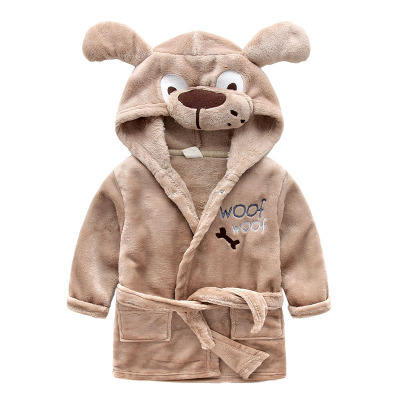 2016 cotton worsted childrens bathrobes elk giraffe dog cartoon kids bath robe sleep wea ...