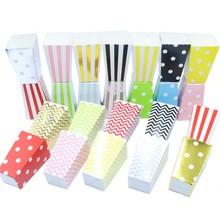 12pcs/lot Wave Pot Pattern Folding Candy Popcorn Boxes Birthday Party Wedding Sanck Favor Paper Bags Christmas Gift