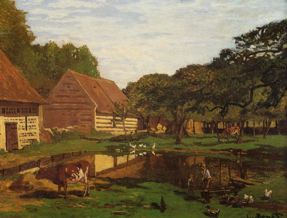 100% handmade Oil Painting Reproduction on linen canvas with museum quality and free DHL,a farmyard in normandy by Claude Monet100% handmade Oil Painting Reproduction on linen canvas with museum quality and free DHL,a farmyard in normandy by Claude Monet