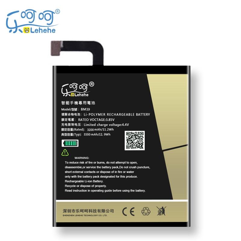 Original LEHEHE Battery For Xiaomi Mi6 MI 6 BM39 3350mAh High Quality Replacement Bateria Battery Free Tools Gifts