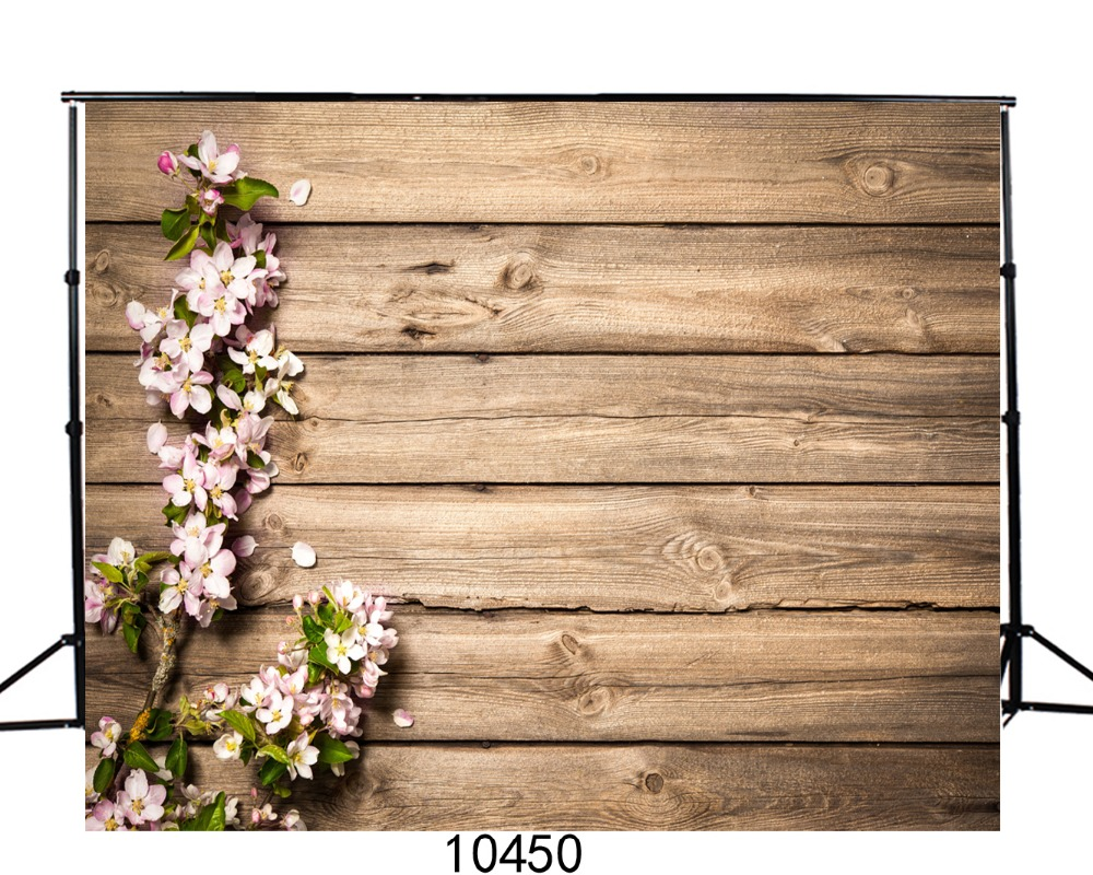Wooden Plank Floor Flowers Photography Backdrops for Photo Studio Vinyl Photo Background for Baby Photobooth Goods Pets Toy Cake image