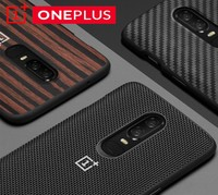 Original OnePlus 6 Bumper Case Official Original Material Kevlar TPU All Round Protection Official Back Shell