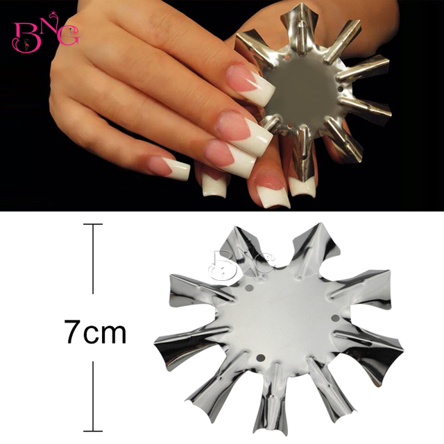 Bng V Shaped Cutter French 1 9 Sizes Smile Line Easy Manicure Nail Art Tool