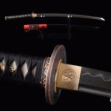 Brandon Schwerter Sharp Japanischen Samurai Katana Full Tang Sharp Schwert Gefaltet Stahl Ton Tempred Schneiden Praxis Espada Messer
