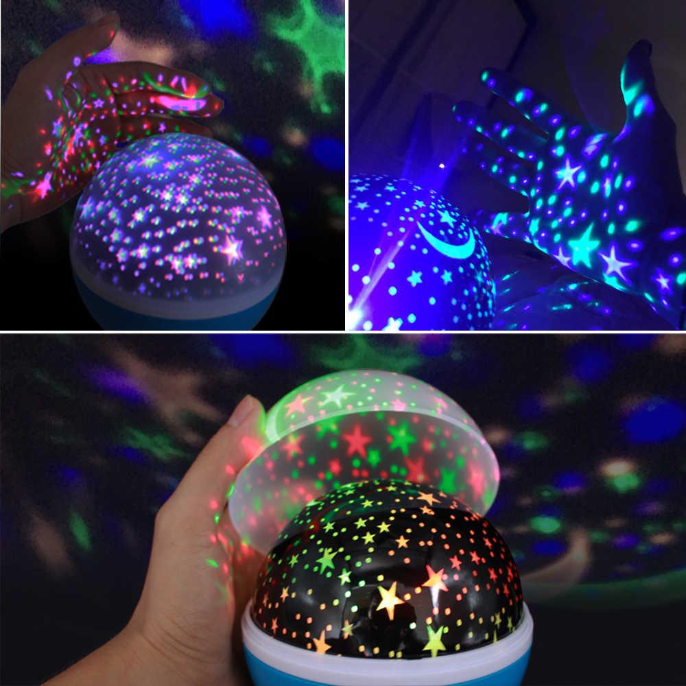 DRBEEEAM звезды Звездное небо светодиодный ночник проекционный светильник Луна Новинка настольный ночник батарея USB ночник для детей