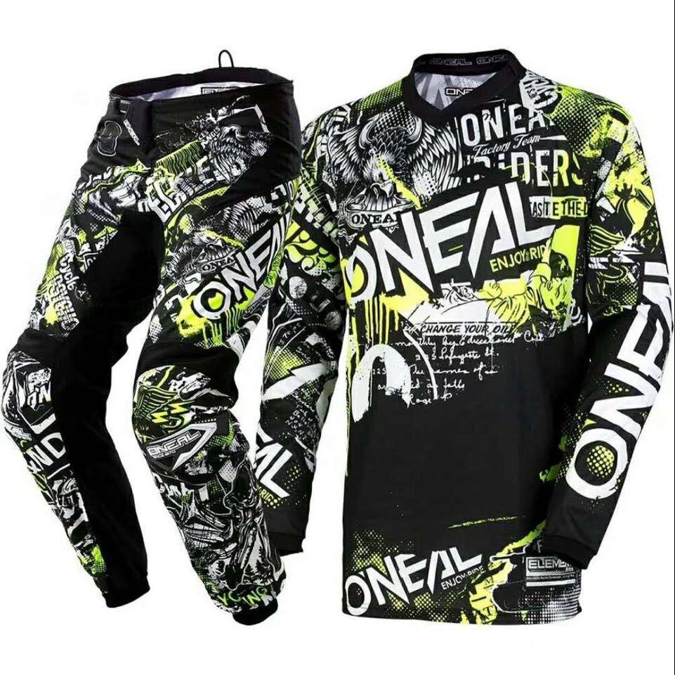 2018 Element Attack Motocross Motorcycle Jersey & Pants Combos Off-road Hi-Viz Kit MX Set