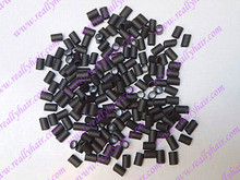 Hair extension heat shrinkable tube with silicon Black glue hot glue hair extension hair extension buckle
