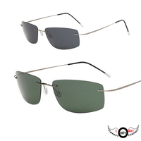 Hot Selling Frameless Pure Titanium Ultra Light Anti Fatigue Driving Mirror Polarized Sunglasses Sunshade I Key