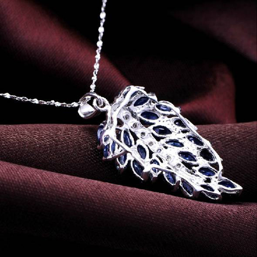 Collares Collier Qi xuan_темно-синий камень цветок кулон шейный_ настоящий шейный_ Качество прямые ed_производитель прямые продажи