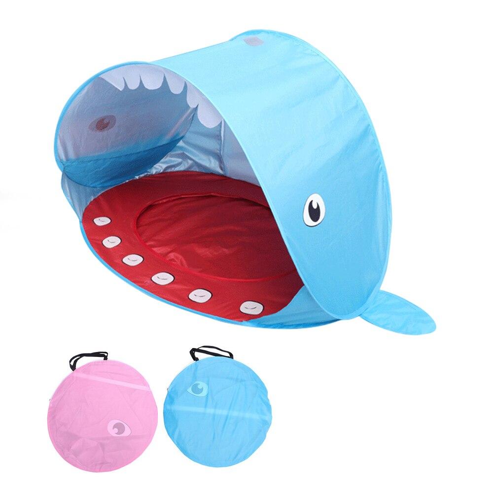 Tente pour enfants en forme de requin Wigwam tente de plage pour enfants protection UV abri solaire Portable piscine étanche Pop Up auvent enfants tente