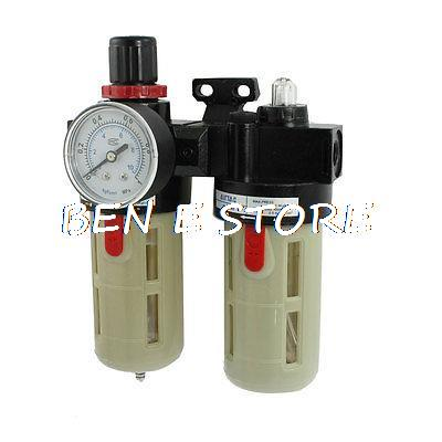 1/4 PT Port Pneumatic Filter Regulator Air Source Treatment Unit w Gauge 3 8 pt port pneumatic filter regulator air source treatment unit w gauge sfc 300