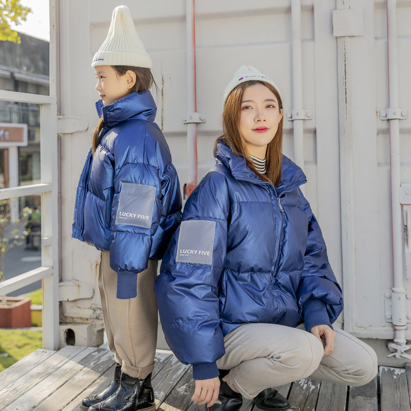 Boys Winter Coat Parent Child Mother Kids Matching Clothes for Family Look Mommy and Me Mom