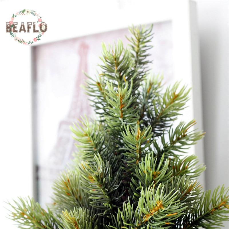 1Set Μίνι πράσινο τεχνητό φυτό - Προϊόντα για τις διακοπές και τα κόμματα - Φωτογραφία 3