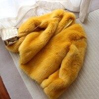 New Style High end Fashion Women Faux Fur Coat S67