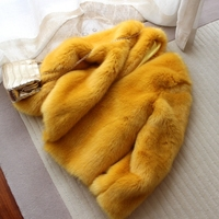 New Style High end Fashion Women Faux Fur Coat S67