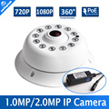 Fisheye HD 1080P 720P POE IP Camera CMOS Sensor 1.0MP 2MP Support 180/360 Degree View IR 10M Night Vision With 5MP Panorama Lens