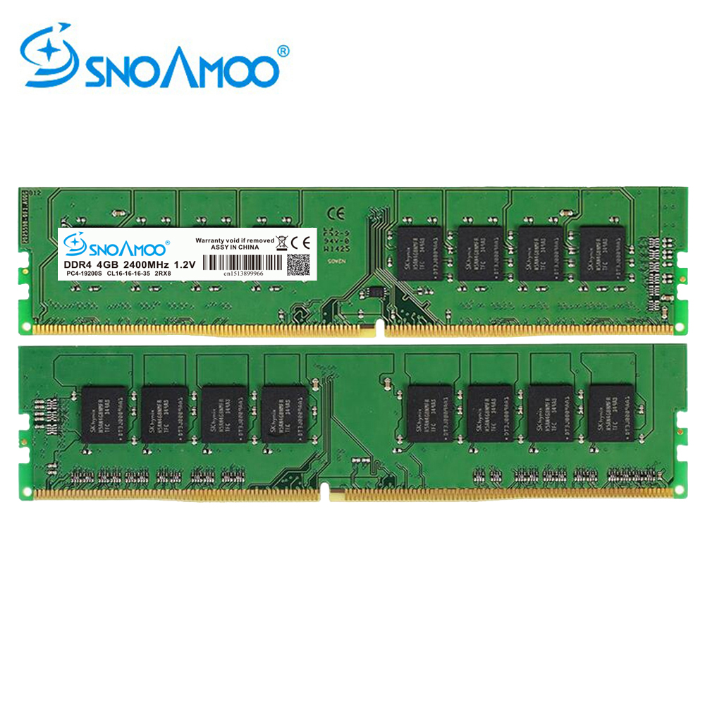 SNOAMOO DDR4 4 GB 2133 MHz ou 2400 MHz DIMM Bureau PC Mémoire Soutien mère ddr4