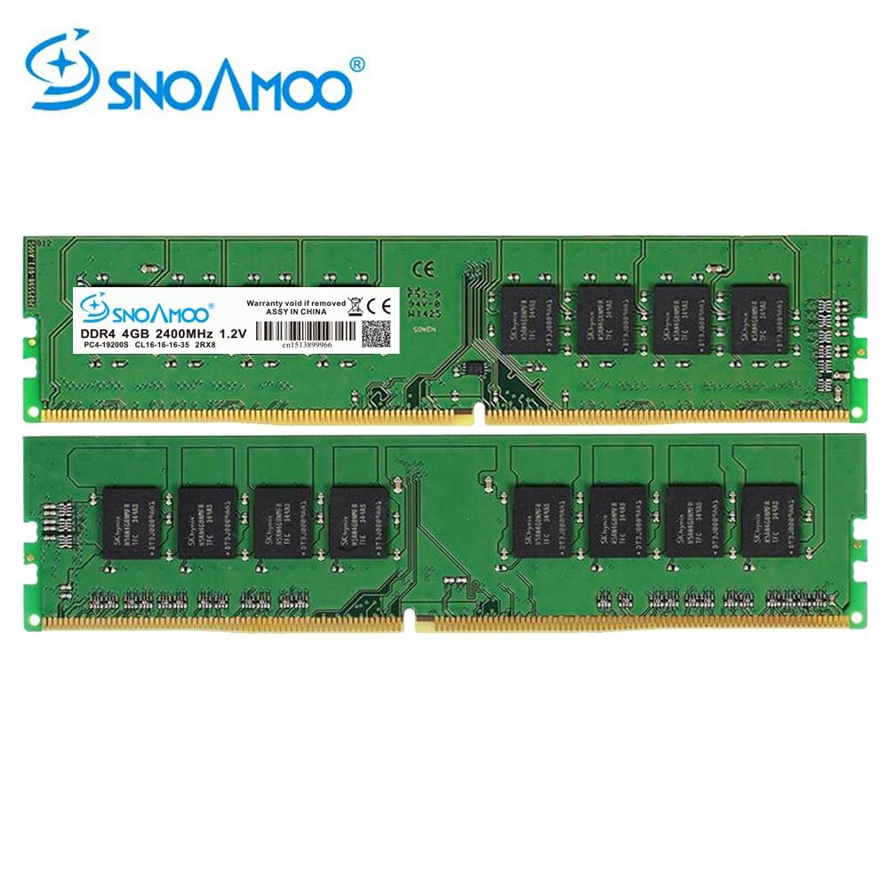 купить SNOAMOO DDR4 4GB 2133MHz or 2400MHz DIMM Desktop PC Memory Support motherboard ddr4 по цене 2883.09 рублей