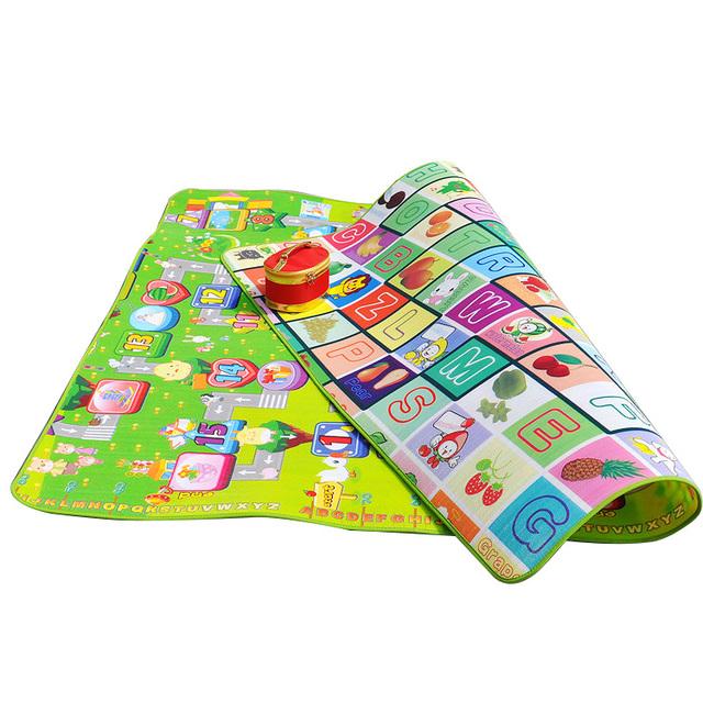 Alfombra infantil Do Bebê Dos Miúdos Jogo Do Alfabeto Educacional Jogar Mat 180x120 cm Crianças Chão Rastejar alfombra de Aprendizagem infantil