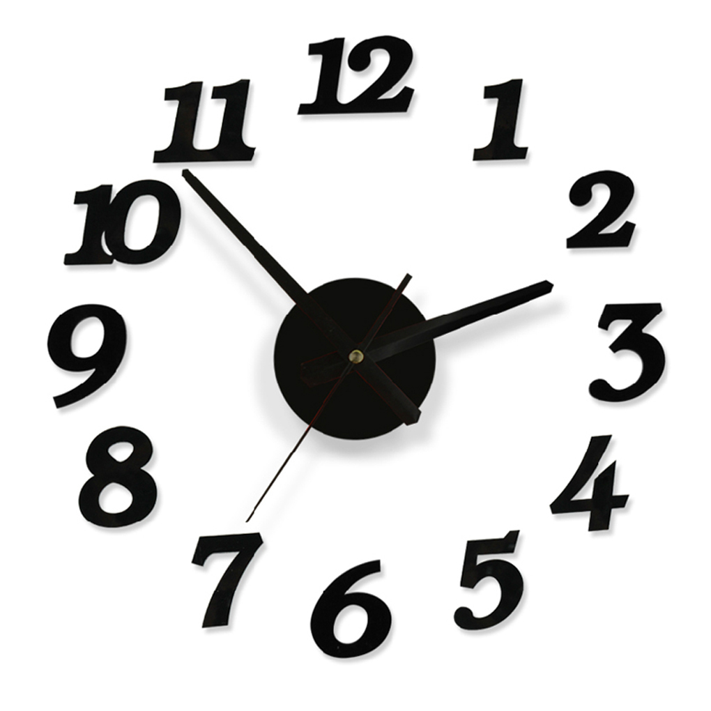 Diy Wall Clock Decoration Sticker Home Office Decor DIY digital wall clock with accessories