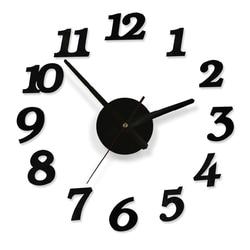 Diy Wall Clock Decoration Sticker Home Office Decor DIY digital wall clock with accessories