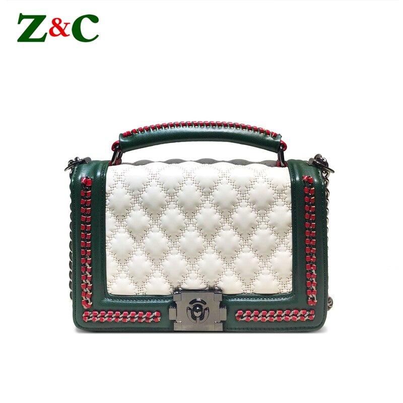 Sac à main de luxe femmes sacs Designer en cuir sac à main dame blanc sacs à bandoulière femmes sacoche chaîne Messenger sacs canaux sacs à main