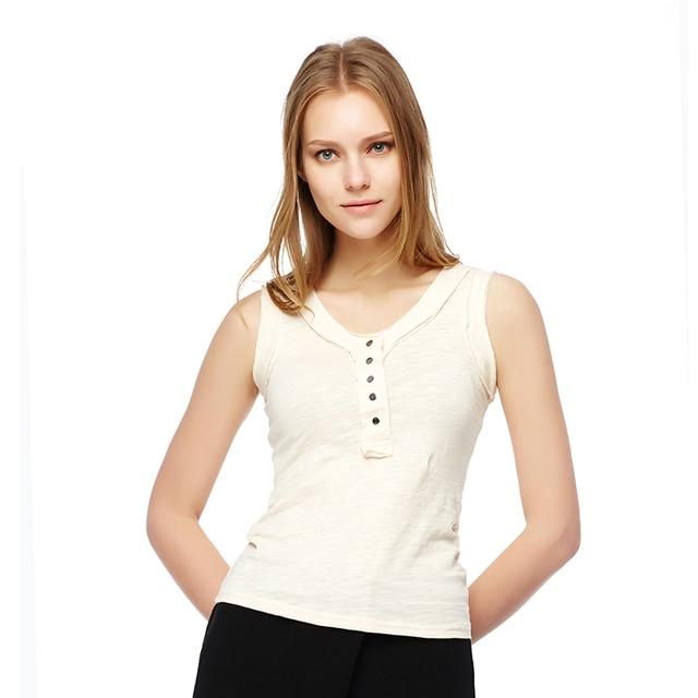 2016 весной и летом женщин Корейской моды отдыха диких дна рубашки был тонкий жилет без рукавов