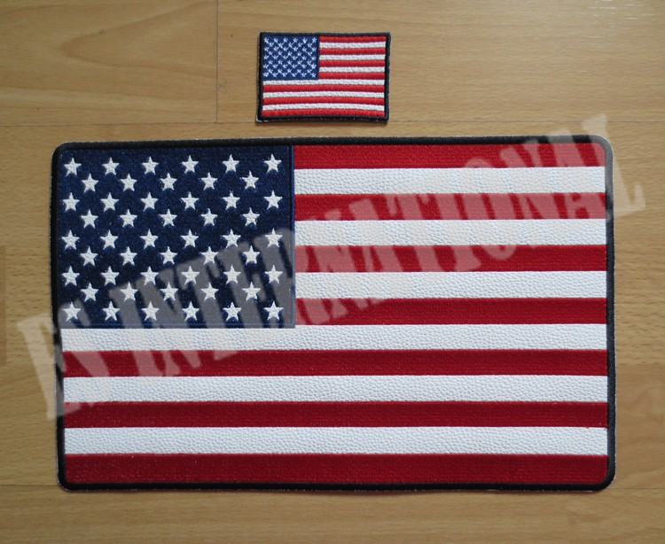 11,6 tum America flagga broderipatcher för jacka tillbaka väst Motorcykel Biker 29,6 cm * 18,5 cm