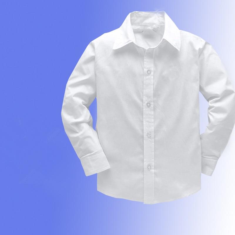 3-14 g. Brand 100% kokvilnas krekli garām piedurknēm ikdienas krekliem zēnu pavasara rudens bērnu apģērbiem bērnu kreklu bērnu apģērbi