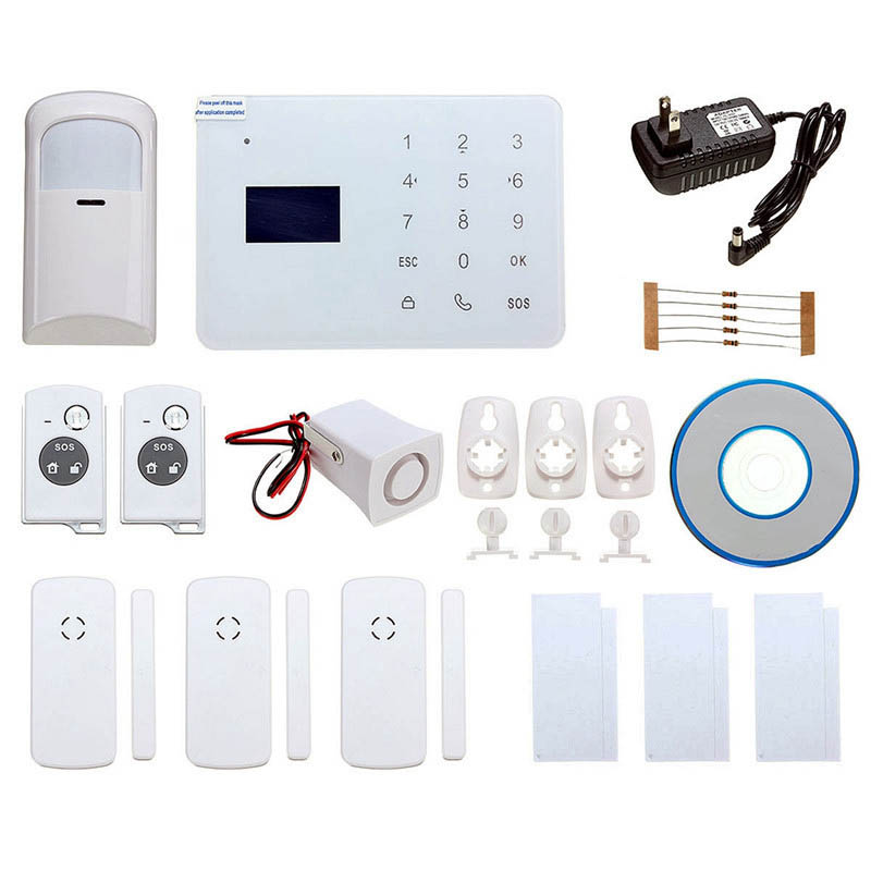 NEW DC12V GSM Wireless Remote Control IR Smoke Sensor Home House Security Alarm System Doorbell Function  home security outdoor dual ir elements sensor dc 12v