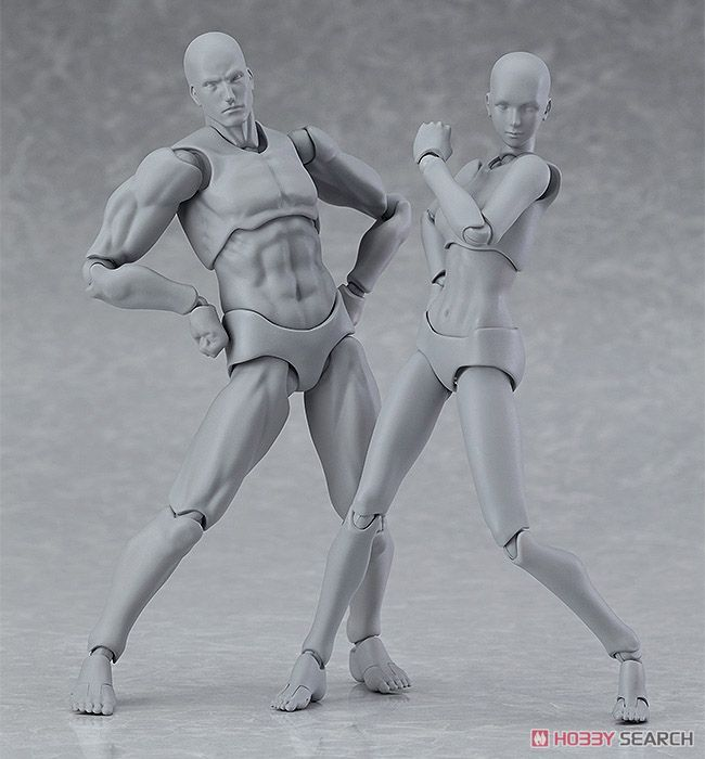 figma Archetype Next He heFlesh Gray Color Ver male female body model element action figure archetype transparent ver she