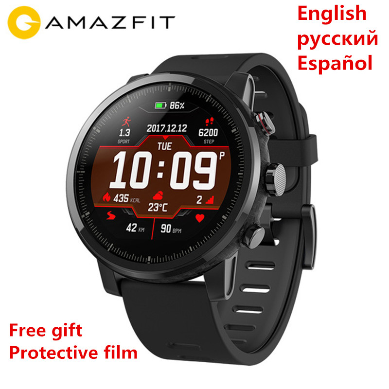 Xiaomi Amazfit Stratos 2 Smartwatch English Version Smart Watch With GPS PPG Heart Rate Monitor 5ATM