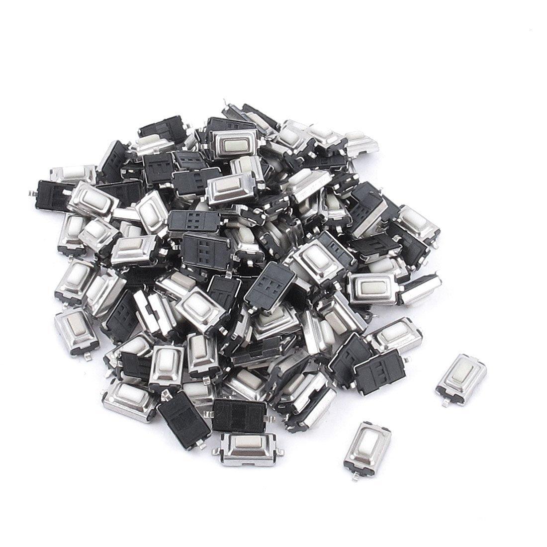 100pcs Touch Micro Switch 3X6X2.5MM 3*6*2.5 SMD White Button Head 6 6 3 1mm smd5 black push button switch 6x6x3 1 touch micro switch 100pcs