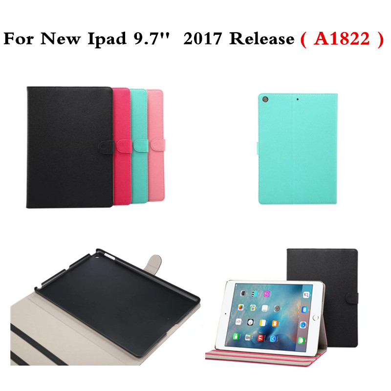 PU Leather Protective Cover Smart Sleep Wake Up Folio Flip Stand Holder Case For New Ipad 9.7 Inch 2017 Release A1822 Tablet PC case cover for kindle paperwhite 123 ebook pu leather folio flip smart sleep wake up protective case cover vintage texture