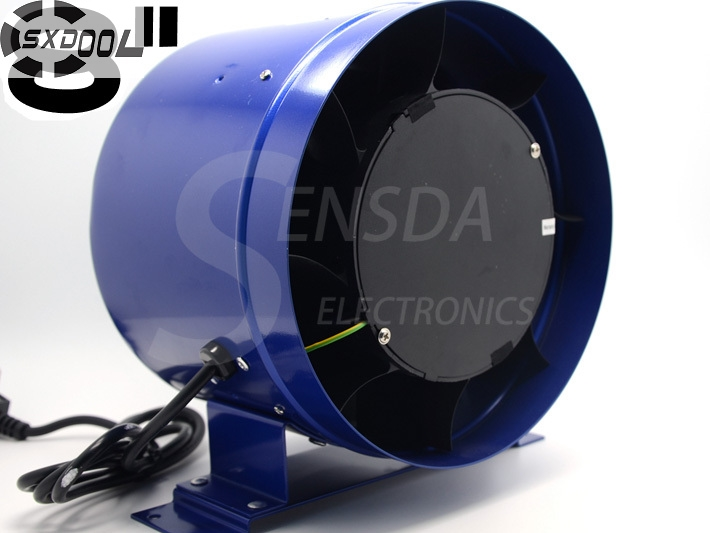 SXDOOL 8 Inline Duct Fan w Speed Controller 8 Inch Exhaust Blower 600CFM 110VAC 220VAC 3000RPM